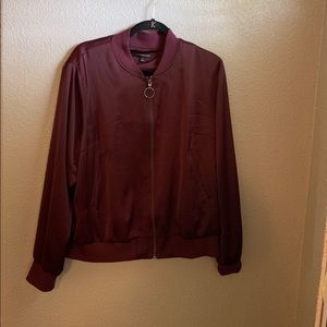 Women's jacket, burgundy color